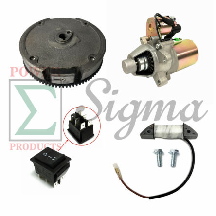 Electric On-Off Switch Starter Upgrade Kit For 5.5/6.5HP 163cc 196cc 208cc 3000/4000 Watts Manual Start Generator & For Harbor Freight Predator 3200/4000W 3500/4375W 212cc Recoil Gas Generator