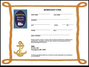 Mississippi Maritime Museum Membership Form