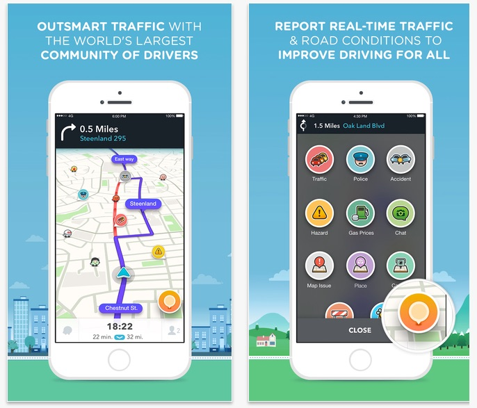 Top 3 Road Trip Apps for your Ride - Waze GPS Navigation Maps Social Traffic On The App Store