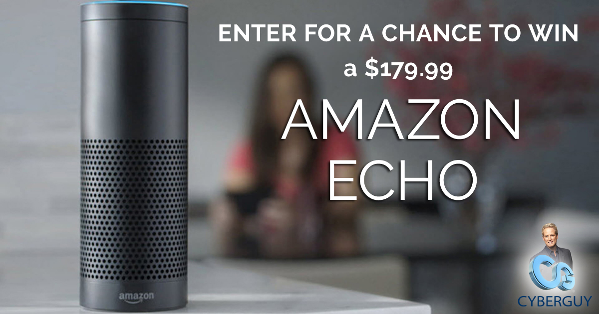 Win an Amazon Echo from Kurt the CyberGuy