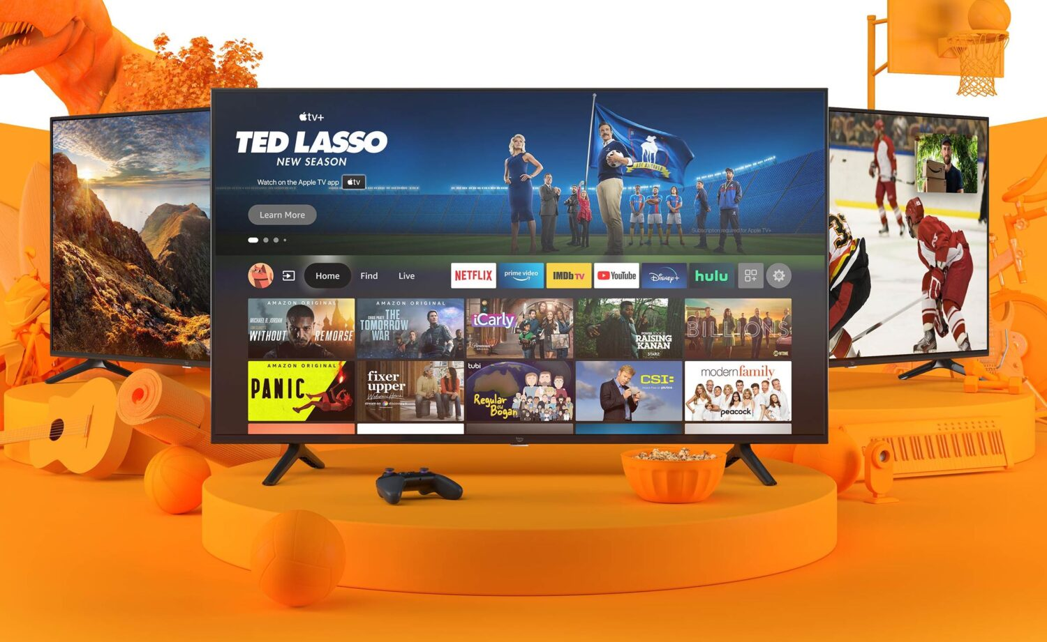 Amazon launches its own branded TVs