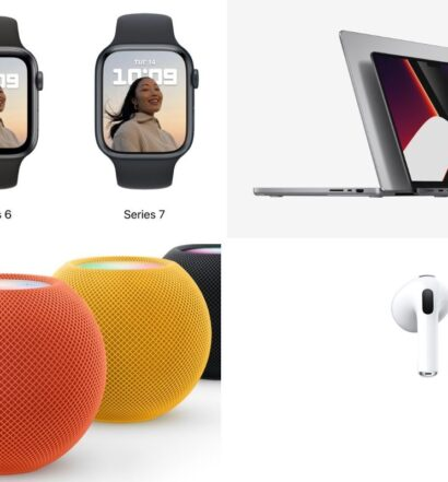 Apple series 7 watch, airpods 3, macbook pro, homepod mini