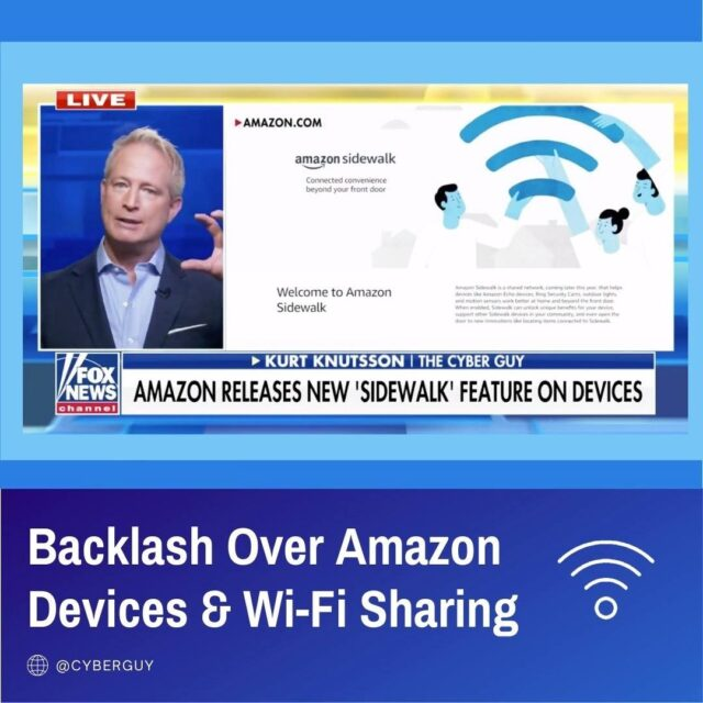 Amazon letting neighbors sneak access to your WiFi with what they call Sidewalk.  I'll show you how to opt-out of this privacy intrusion now!  Link in profile.
