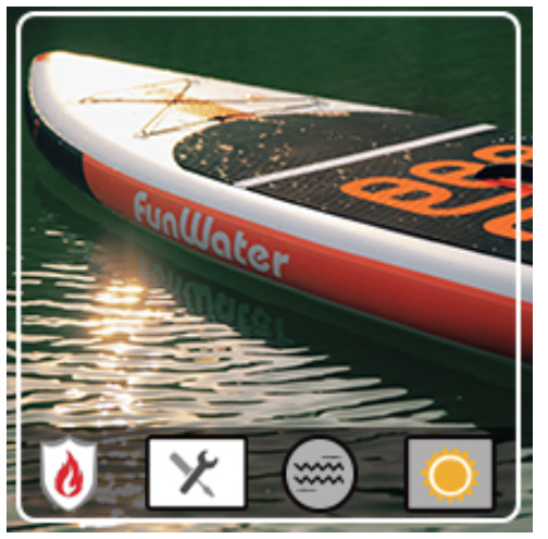 funwater all around paddle board features