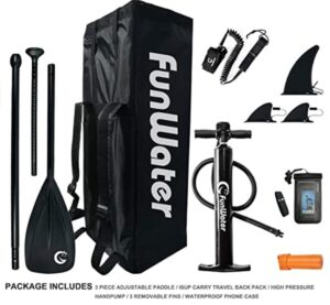 what comes with the Funwater 10 paddle board