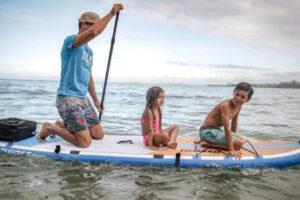 Fun on a thurso paddle board