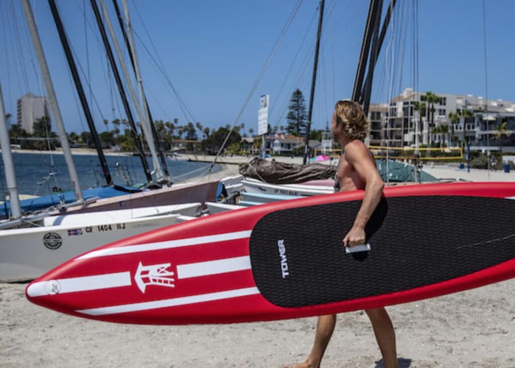 irace tower paddle board SUP review