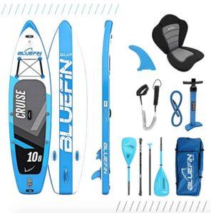 "Bluefine Cruise 10'8"" Kayak Paddel Board Package"