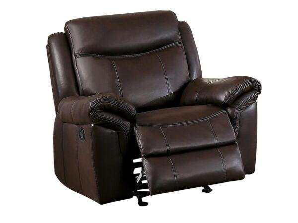 Aram AireHyde Glider Recliner Chair AGA 8206BRW-1