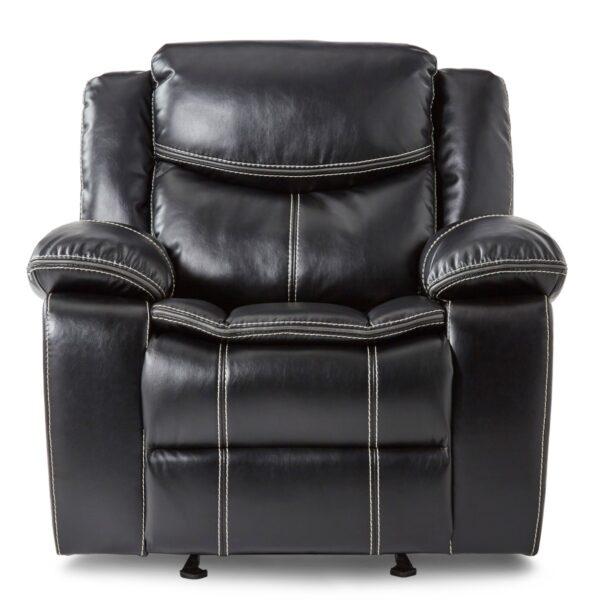 Bastrop Black Glider Recliner Chair AGA 8230BLK-1