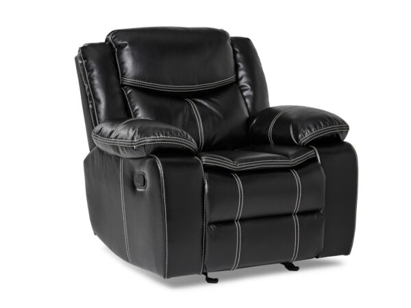 Bastrop Black Glider Recliner Chair (Angle)