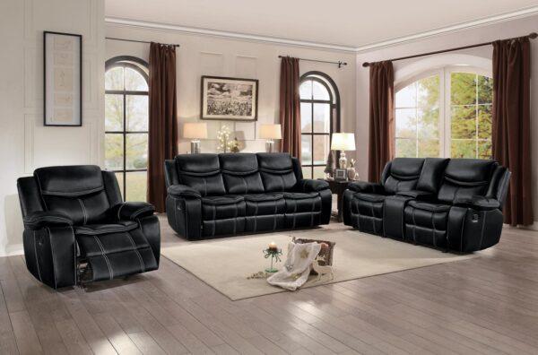 Bastrop Black Recliner Sofa Collection