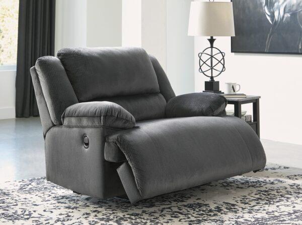 Clonmel Charcoal Recliner Chair (open)