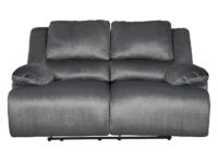 Clonmel Charcoal Recliner Loveseat (Front View) ASLY 3650586