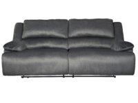 Clonmel Charcoal Recliner Sofa (Front View)