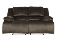 Clonmel Chocolate Recliner Loveseat (Front View) ASLY 3650486