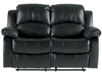 Cranley Black Recliner Loveseat (Front View) AGA 9700BLK-2