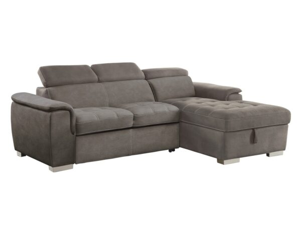 Ferriday Taupe Sofa Chaise (angle)