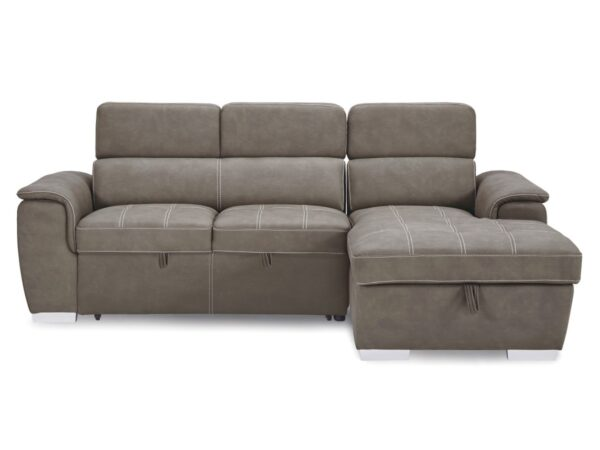 Ferriday Taupe Sofa Chaise (front)