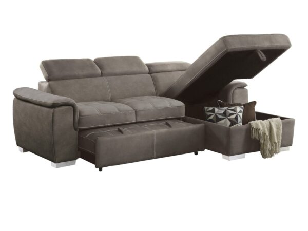 Ferriday Taupe Sofa Chaise (open chaise)