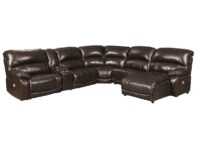 Hallstrung Chocolate 6-Piece Power Recliner RAF Chaise Sectional ASLY U52402-58-57-19-77-46-97
