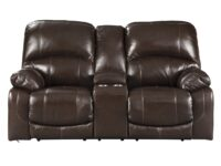 Hallstrung Chocolate Power Recliner Loveseat (Front View) ASLY U5240218