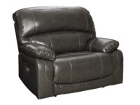 Hallstrung Gray Power Recliner Chair (Angle) ASLY U5240382