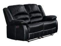 Jarita Black Recliner Loveseat AGA 8329BLK-2