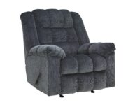 Ludden Blue Manual Rocker Recliner Chair ASLY 8110525