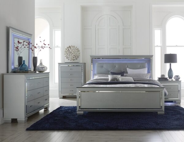 Allura Grey LED Bedroom Collection (Room View) AGA 1916