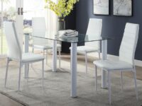 Florian White 5-Piece Dining Set