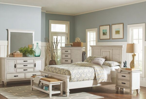 Franco Antique White Bedroom Collection CST 205331