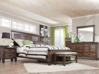 Franco Oak 4-Piece Bedroom Set CST 200971