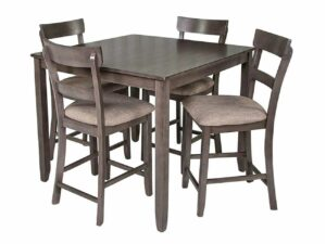 Henderson Gray 5-Piece Counter Dining Set CR 2754SET-GY