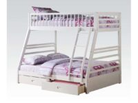 Ogletown White Twin Over Full Bunk Bed With Drawers A 37040
