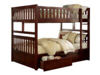 Rowe Cherry Full Over Full Bunk Bed With Drawers AGA B2013FFDC-T