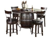 Barrel Counter 5 PC Dining Set