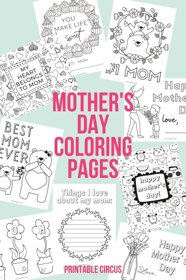 Grab these FREE printable Mother's Day coloring pages. They're in a handy PDF that you can easily print at home for the kids to color in for mom on her special day. Fun coloring sheets for mom from the kids.