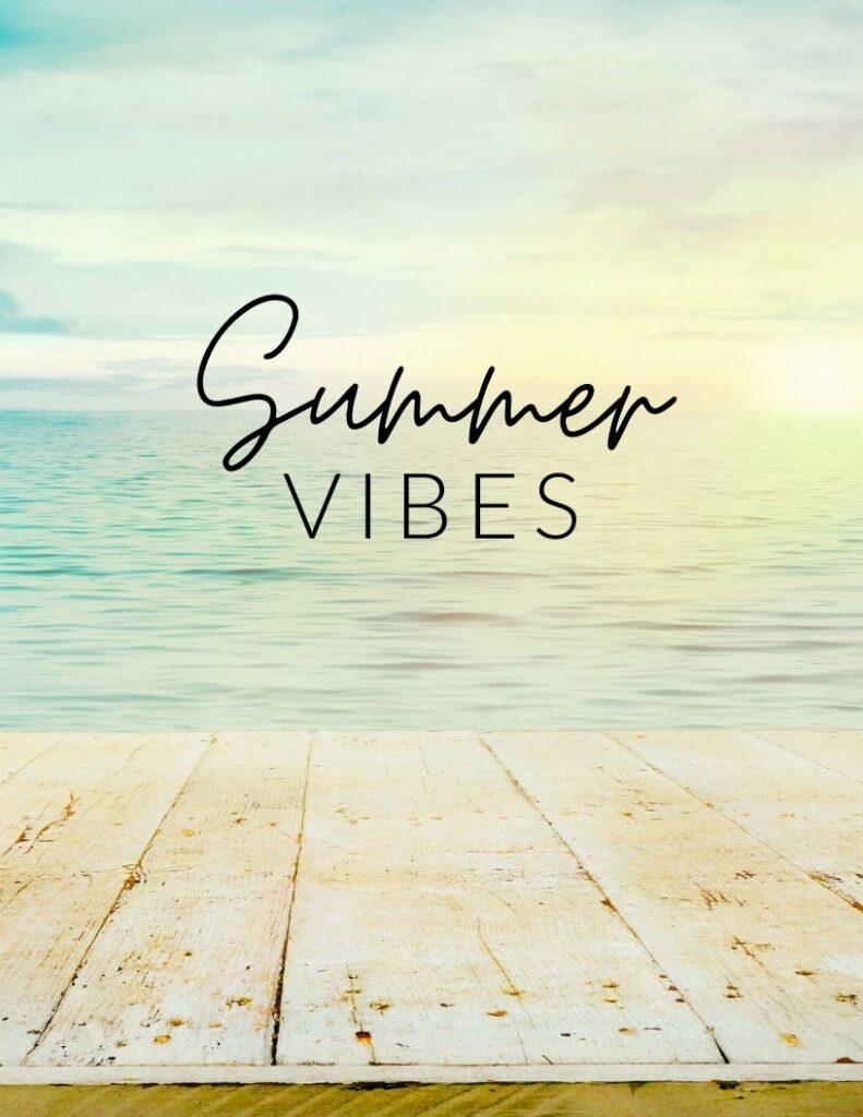 summer vibes photo wall decor free printable - FREE printable summer wall art for your gallery walls and home decor