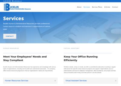 Bucklin Human & Administrative Services website design