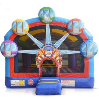 ferris wheel combo moonwalk invlatable