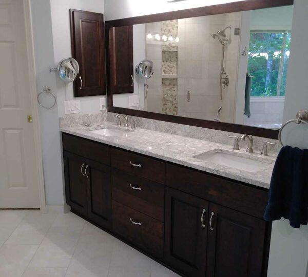 Bathroom Remodel with Contemporary Vanity