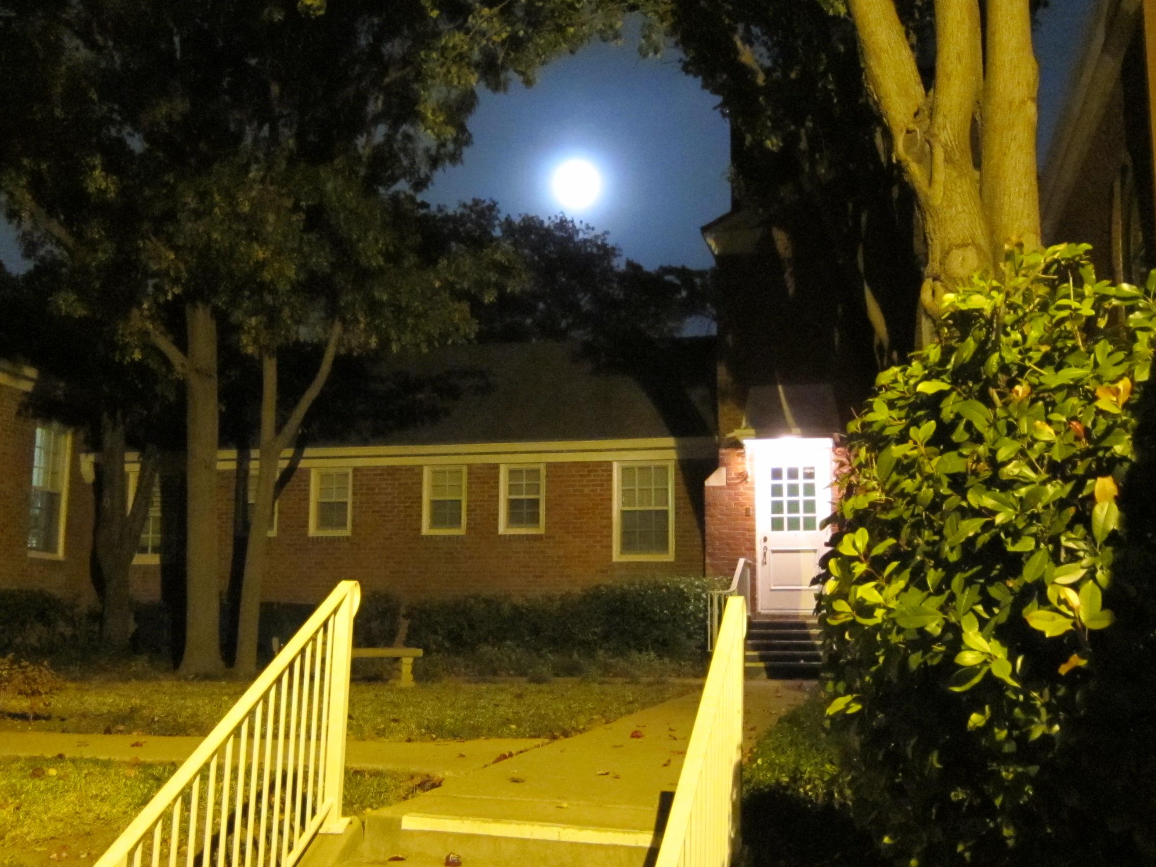 Full Moon Over the Back Door