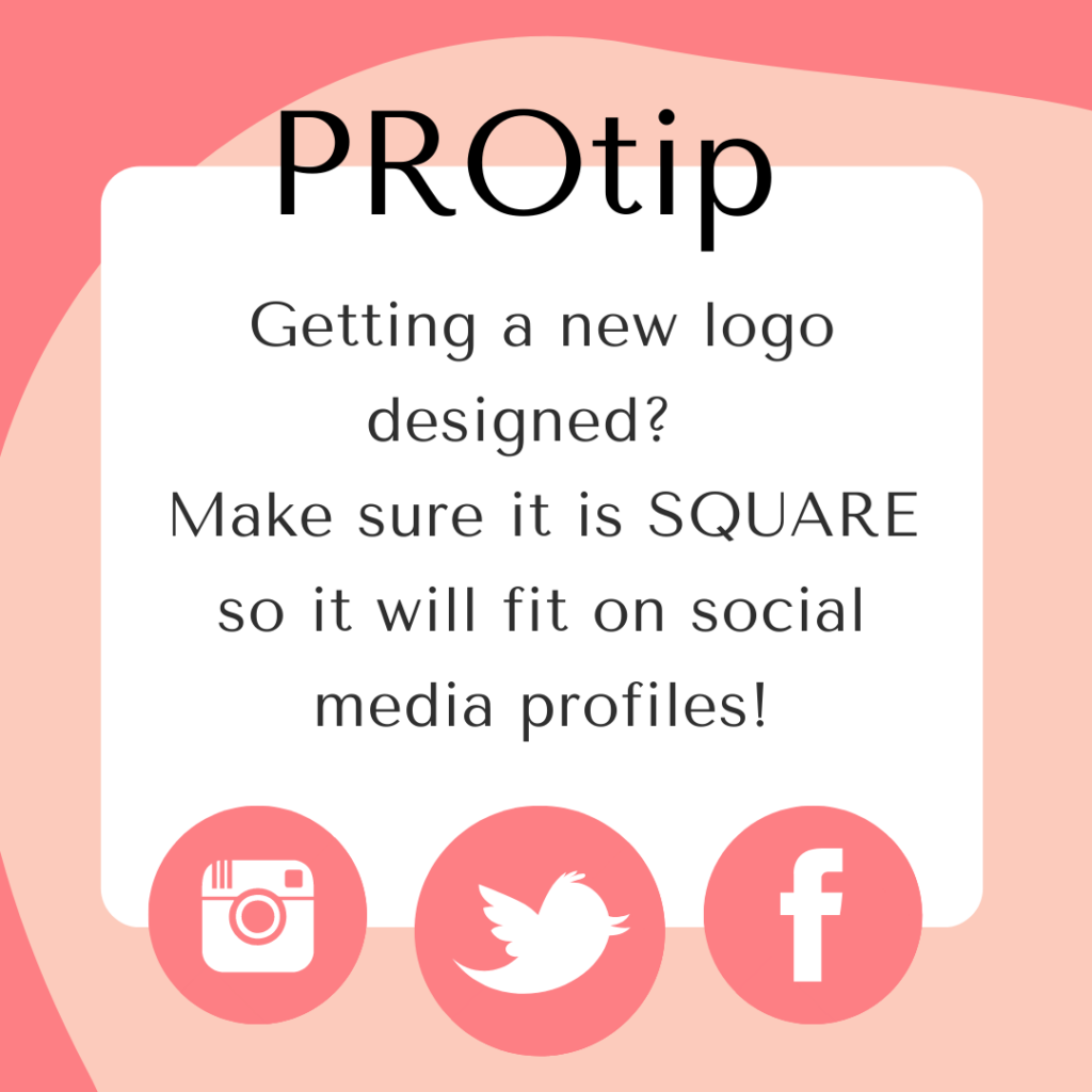 Protip Make sure logo is square