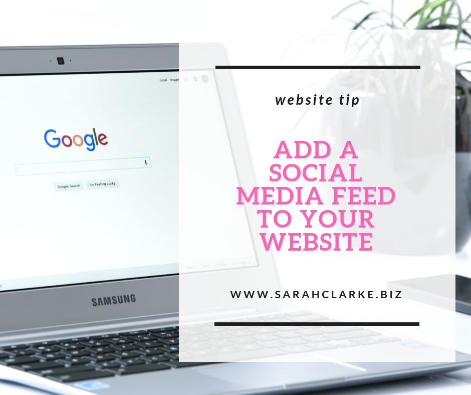website tip add a social media feed