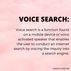 Voice Search Definition