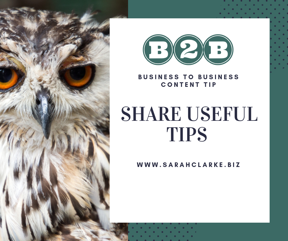 business to business b2b content tip social media