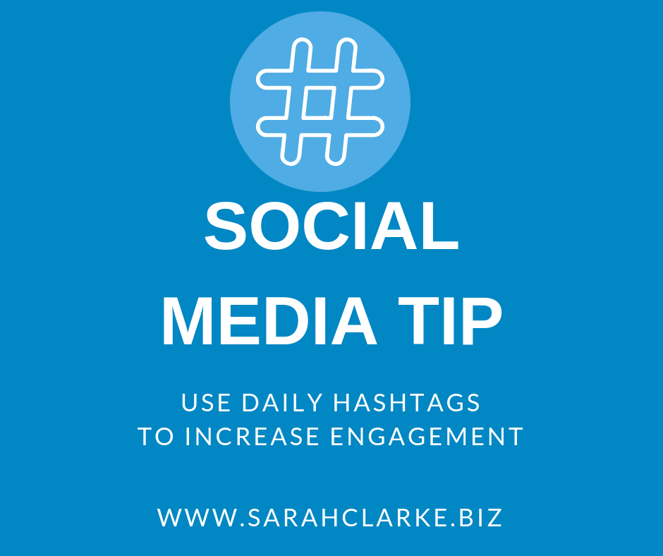 social media tip use daily hashtags