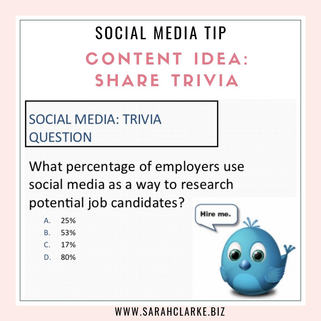 social media content tip share trivia