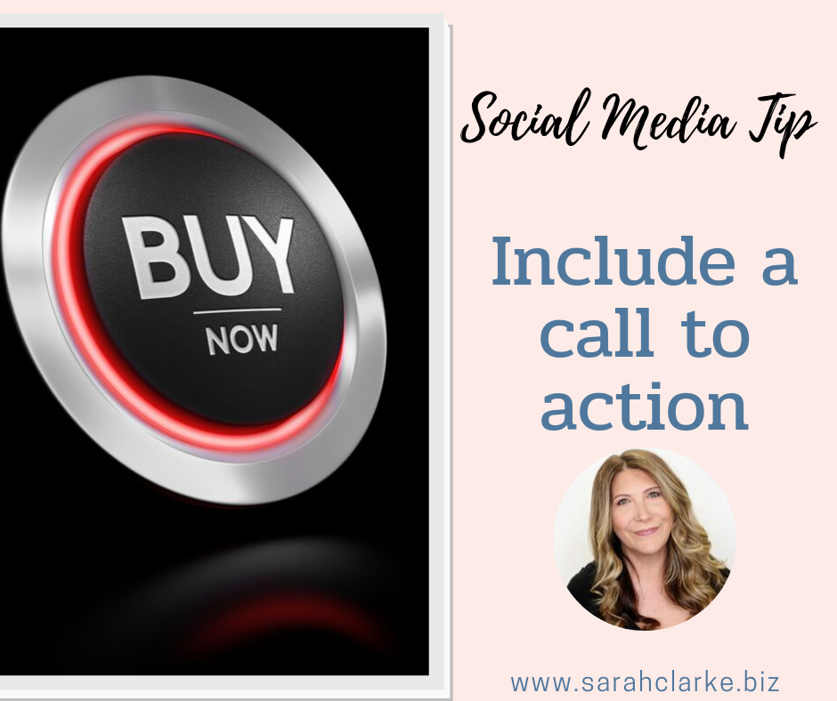 social media tip: include a call to action in your post